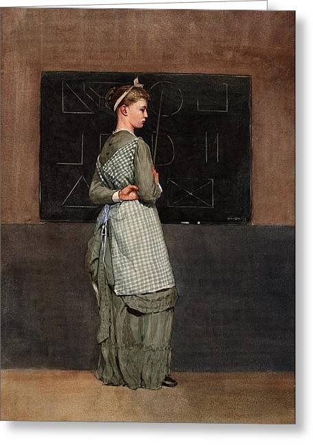 Schoolroom Greeting Cards - Blackboard Greeting Card by Philip Ralley