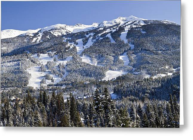 Winter Olympics Greeting Cards - Blackcomb Mountain B.C Greeting Card by Pierre Leclerc Photography