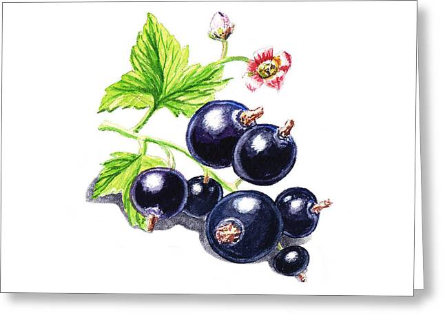 Sour Greeting Cards - Blackcurrant New Design One Greeting Card by Irina Sztukowski
