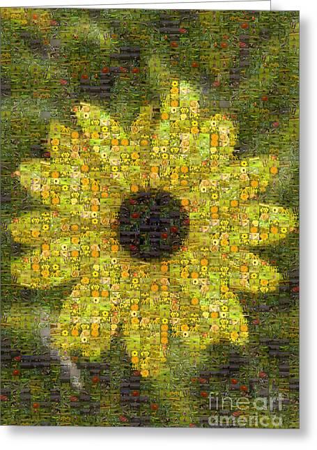 Blackeyed Suzy Mosaic Greeting Card by Darleen Stry