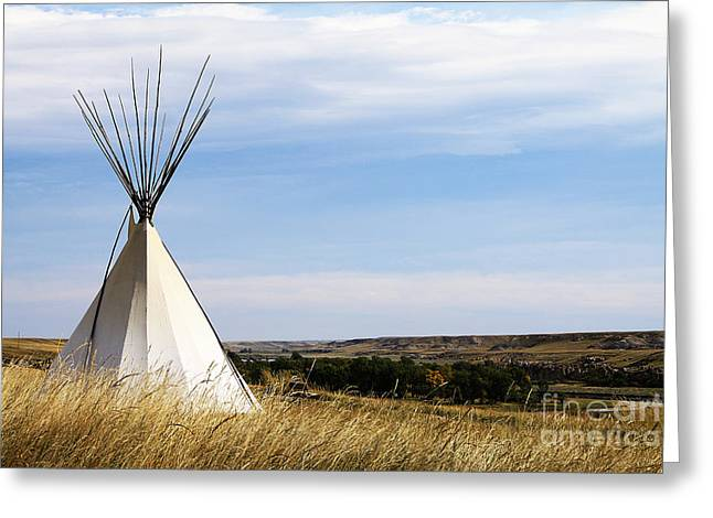 Blackfoot River Greeting Cards - Blackfoot Teepee Greeting Card by Alyce Taylor