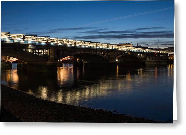Famous Bridge Greeting Cards - Blackfriars Bridge - London U K Greeting Card by Georgia Mizuleva