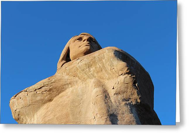 Blackhawk Statue Greeting Card by Michael Smith