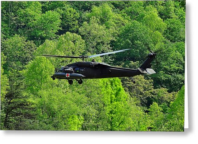 Blackhawk Taking Off Greeting Card by Chris Flees