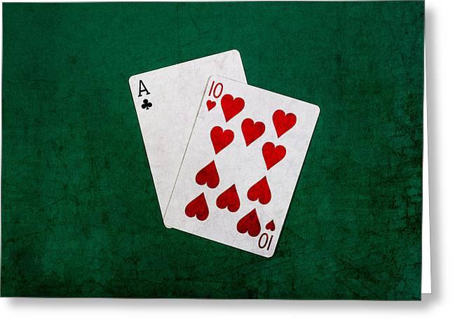 Loser Greeting Cards - Blackjack Twenty One 1 Greeting Card by Alexander Senin