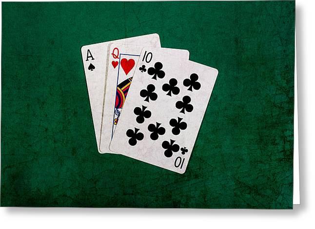 Blackjack Greeting Cards - Blackjack Twenty One 3 Greeting Card by Alexander Senin