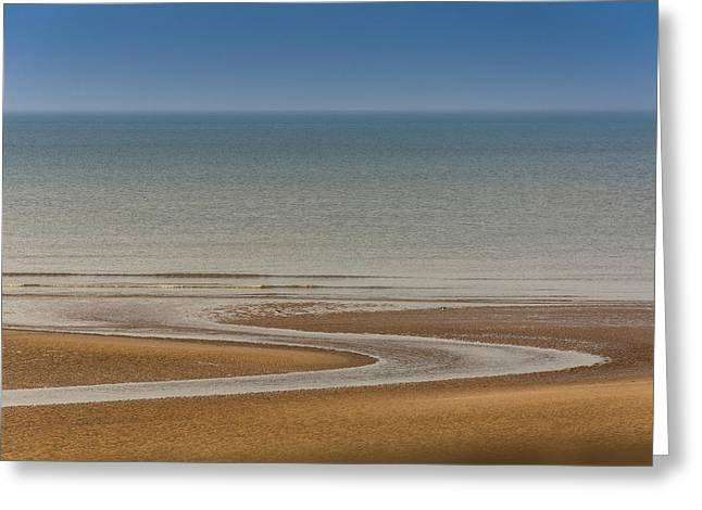 View Greeting Cards - Blackpool Beach. Greeting Card by Daniel Kay