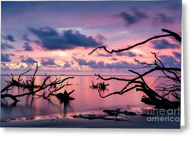 Blackrock Beach Sunrise Greeting Card by Dawna  Moore Photography