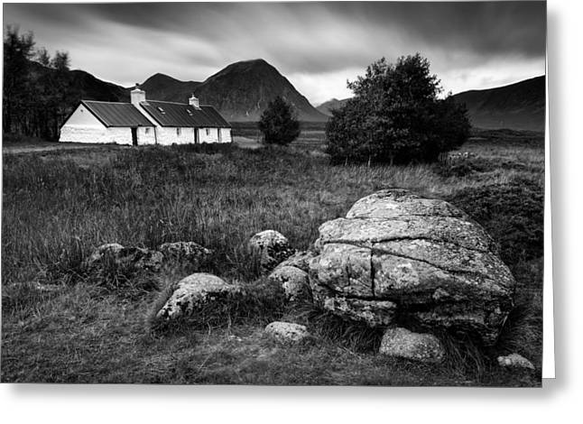 Buachaille Etive Mor Greeting Cards - Blackrock Cottage Greeting Card by Dave Bowman