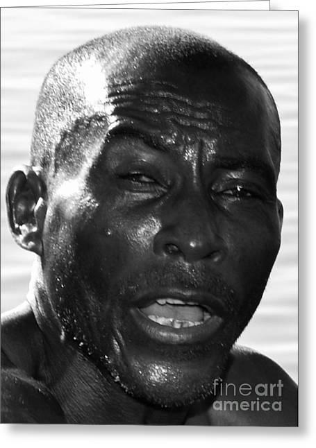 Black Mamba Mixed Media Greeting Cards - Ye Man  Greeting Card by Kenroy Rhoden