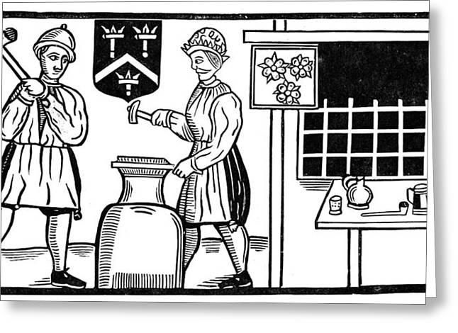 Blacksmith, 17th Century Greeting Card by Granger