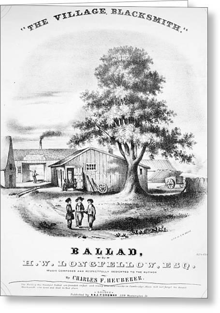 Blacksmith, 1848 Greeting Card by Granger