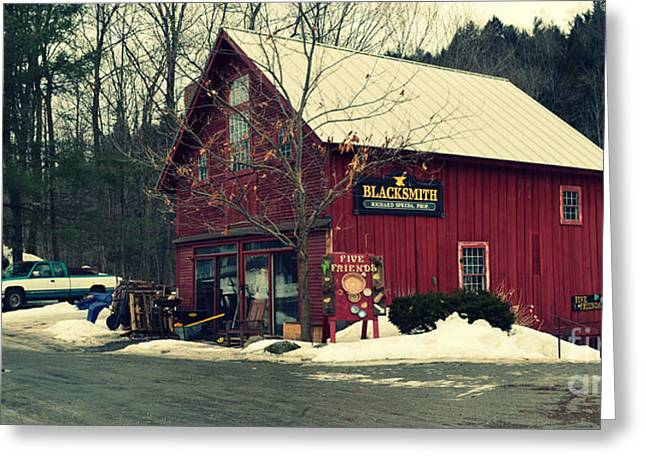 Landscape And Scenic Greeting Cards - Blacksmith at Stowe Vermont Greeting Card by Patricia Awapara