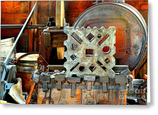Blacksmith Blues Greeting Card by Lauren Leigh Hunter Fine Art Photography