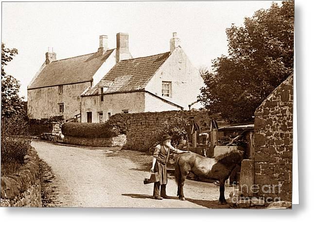 Embleton Greeting Cards - Blacksmith in Embleton England Greeting Card by The Keasbury-Gordon Photograph Archive
