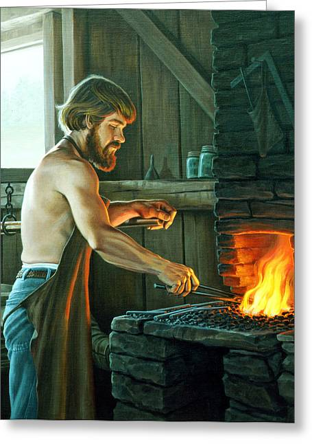 Blacksmith Greeting Card by Paul Krapf