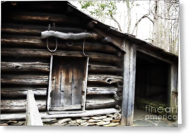 Stein Greeting Cards - Blacksmith Quarters Greeting Card by Nancy E Stein