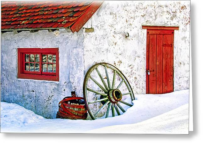 Iron Greeting Cards - Blacksmith shop at Hopewell Furnace Greeting Card by Carolyn Derstine