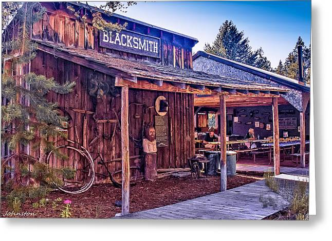 Manual Greeting Cards - Blacksmith Shop Oregon Greeting Card by  Bob and Nadine Johnston
