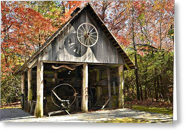 Blacksmith Shop Greeting Card by Susan Leggett