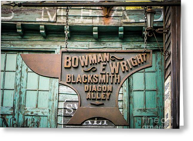 Store Fronts Greeting Cards - Blacksmith Sign Greeting Card by Perry Webster