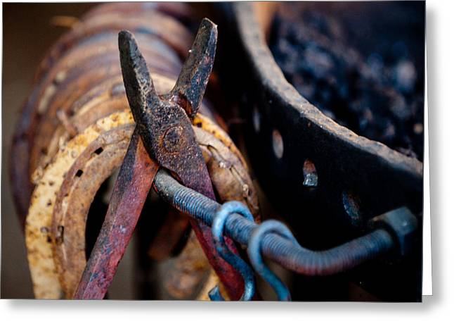 Blacksmith Tools Greeting Card by Art Block Collections