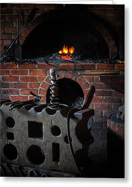 Ruston Greeting Cards - Blacksmith Workshop  Greeting Card by Thomas Hall Photography