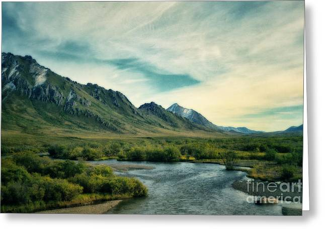 Mountainscape Greeting Cards - Blackstone River  Greeting Card by Priska Wettstein