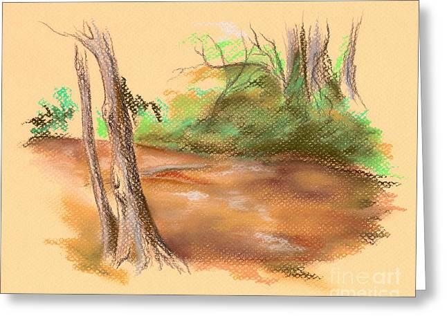 Creek Pastels Greeting Cards - Blackwater Creek Greeting Card by MM Anderson