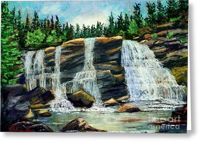 Etc. Pastels Greeting Cards - Blackwater Falls Greeting Card by Bruce Schrader
