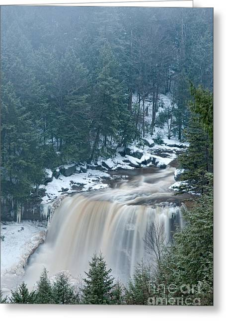 Stream Greeting Cards - Blackwater Falls D30013103 Greeting Card by Kevin Funk