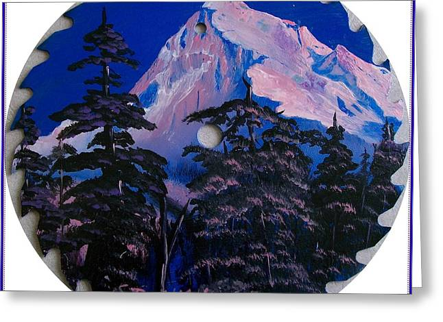 Saw Greeting Cards - Blade Mountain Greeting Card by Sharon Duguay