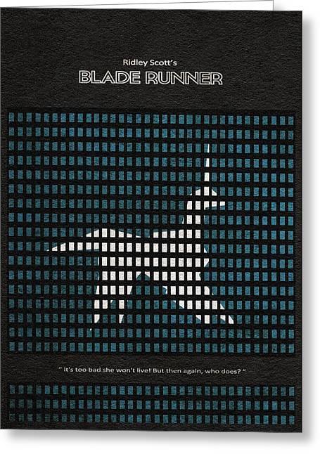 Runner Greeting Cards - Blade Runner Greeting Card by Ayse Deniz