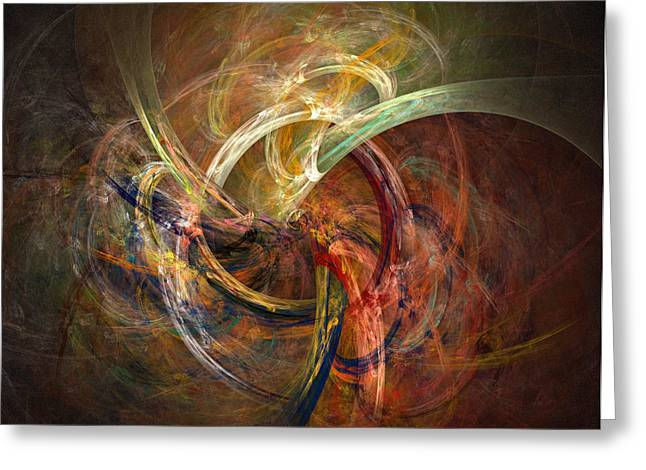 Spirals Greeting Cards - Blagora Greeting Card by David April