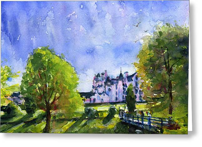 Blair Greeting Cards - Blair Castle Bridge Scotland Greeting Card by John D Benson