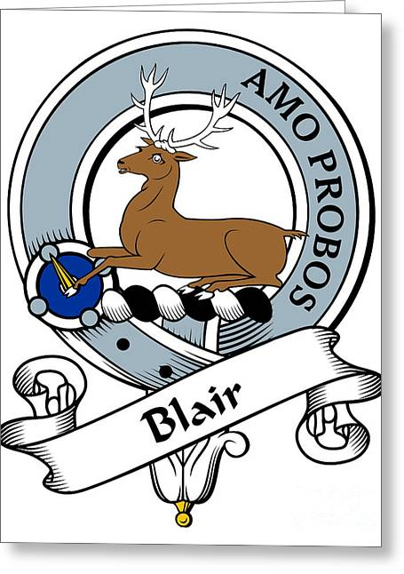 Blair Clan Badge Greeting Card by Heraldry