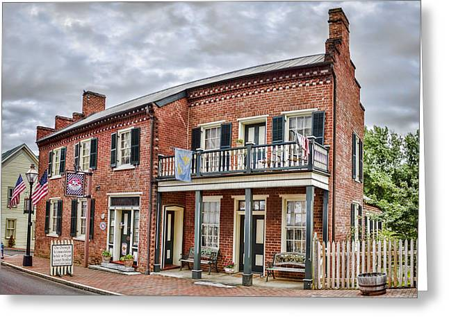 Houses Bed And Breakfast Greeting Cards - Blair Moore House Greeting Card by Heather Applegate