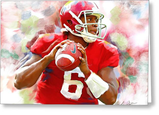 University Of Alabama Greeting Cards - Blake Sims Greeting Card by Steven Lester