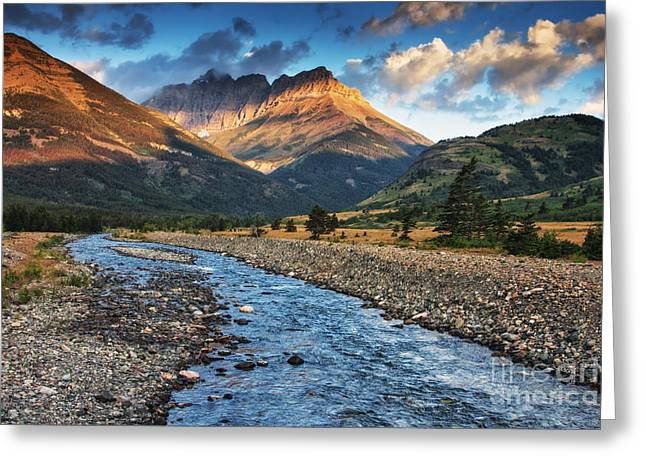 Alberta Landscape Greeting Cards - Blakiston Creek Greeting Card by Mark Kiver