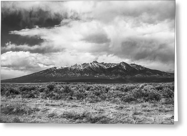 Spanish Peaks Greeting Cards - Blanca Massif Greeting Card by Aaron Spong