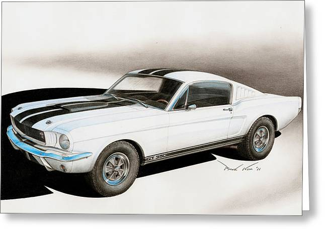Paul Kim Greeting Cards - Blanco Shelby Greeting Card by Paul Kim