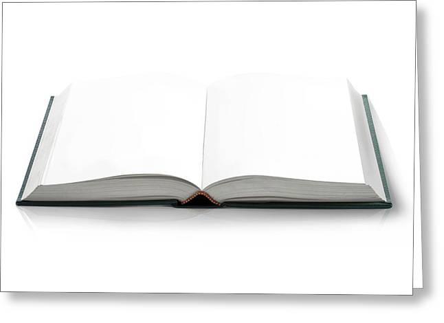 Blank Open Book Greeting Card by Leonello Calvetti