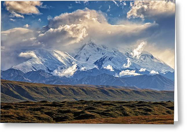 Denali Greeting Cards - Blanket of Clouds Greeting Card by Rick Berk
