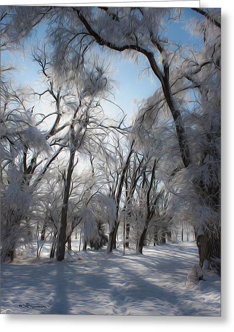 Chalco Hills Recreation Area Greeting Cards - Blanket of Snow Greeting Card by Jeff Swanson