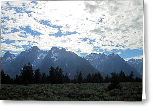 Teton Greeting Cards - Blanketed Giants Greeting Card by Mike Podhorzer