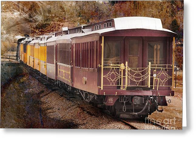 Old Caboose Greeting Cards - Blast From The Past Greeting Card by Janice Rae Pariza