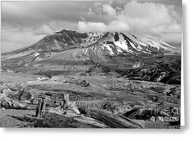 Snow-covered Landscape Greeting Cards - Blast Zone Greeting Card by Jim Chamberlain