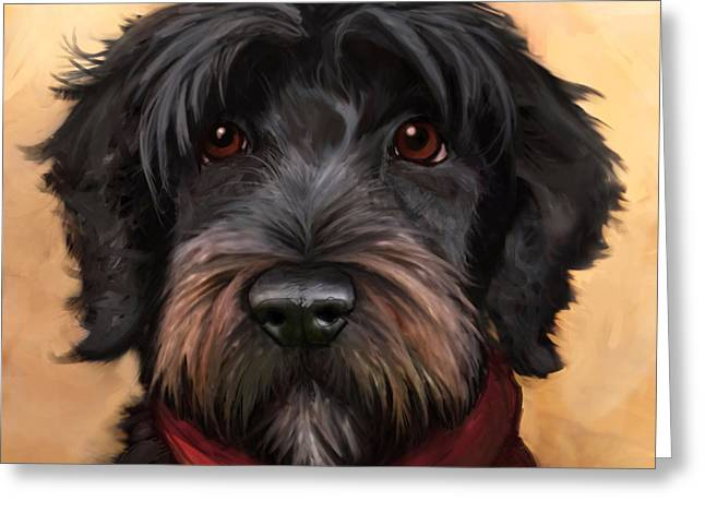 Dog Portraits Greeting Cards - Blaze Greeting Card by Sean ODaniels