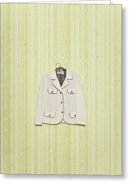 Coat Hanger Greeting Cards - Blazer Greeting Card by Joana Kruse