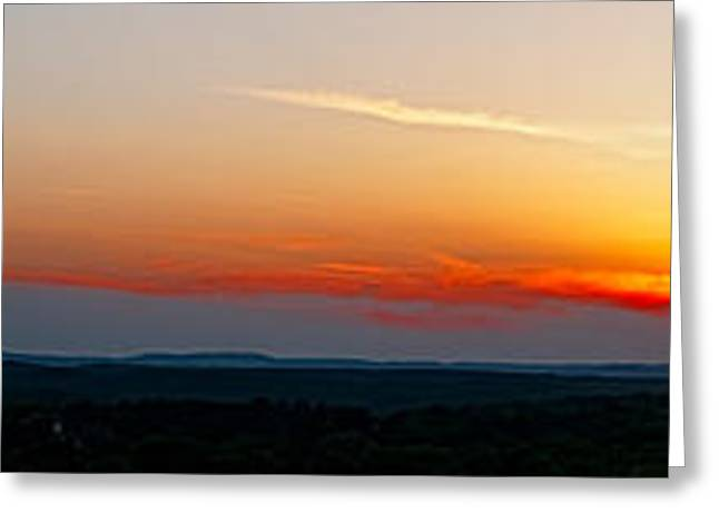 Arkansas Greeting Cards - Blazing Sky Greeting Card by Jerry Williamson
